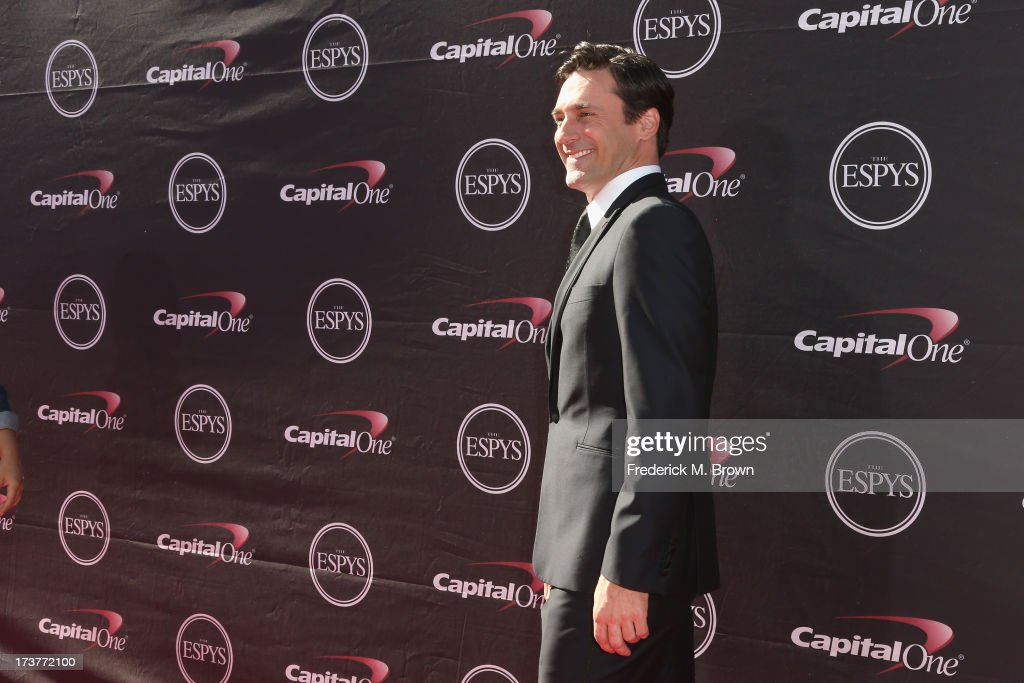 Actor <a gi-track='captionPersonalityLinkClicked' href=/galleries/search?phrase=Jon+Hamm&family=editorial&specificpeople=3027367 ng-click='$event.stopPropagation()'>Jon Hamm</a> attends The 2013 ESPY Awards at Nokia Theatre L.A. Live on July 17, 2013 in Los Angeles, California.