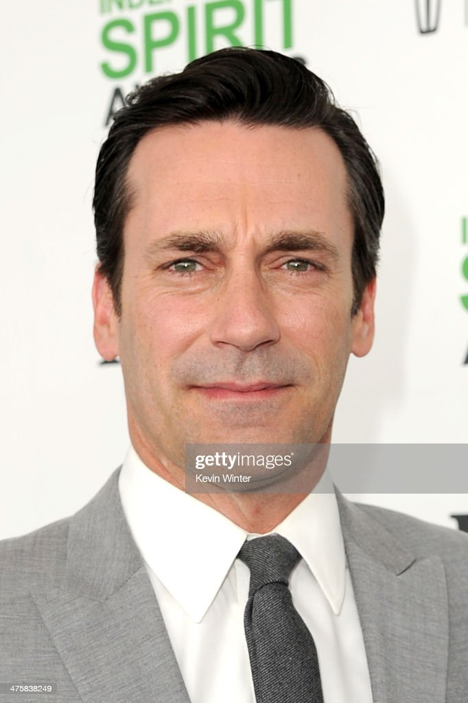 Actor Jon Hamm attends the 2014 Film Independent Spirit Awards at Santa Monica Beach on March 1, 2014 in Santa Monica, California.
