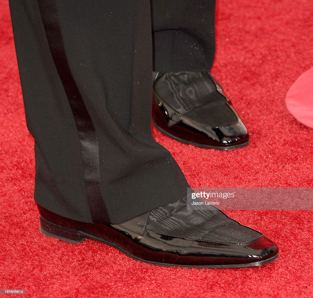 Actor Jon Hamm (shoe detail) attends the 65th annual Primetime Emmy Awards at Nokia Theatre L.A. Live on September 22, 2013 in Los Angeles, California.