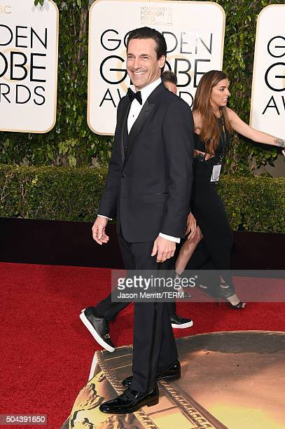 Actor Jon Hamm attends the 73rd Annual Golden Globe Awards held at the Beverly Hilton Hotel on January 10 2016 in Beverly Hills California