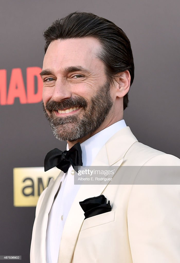 Actor Jon Hamm attends the AMC celebration of the final 7 episodes of 'Mad Men' with the Black Red Ball at the Dorothy Chandler Pavilion on March 25...