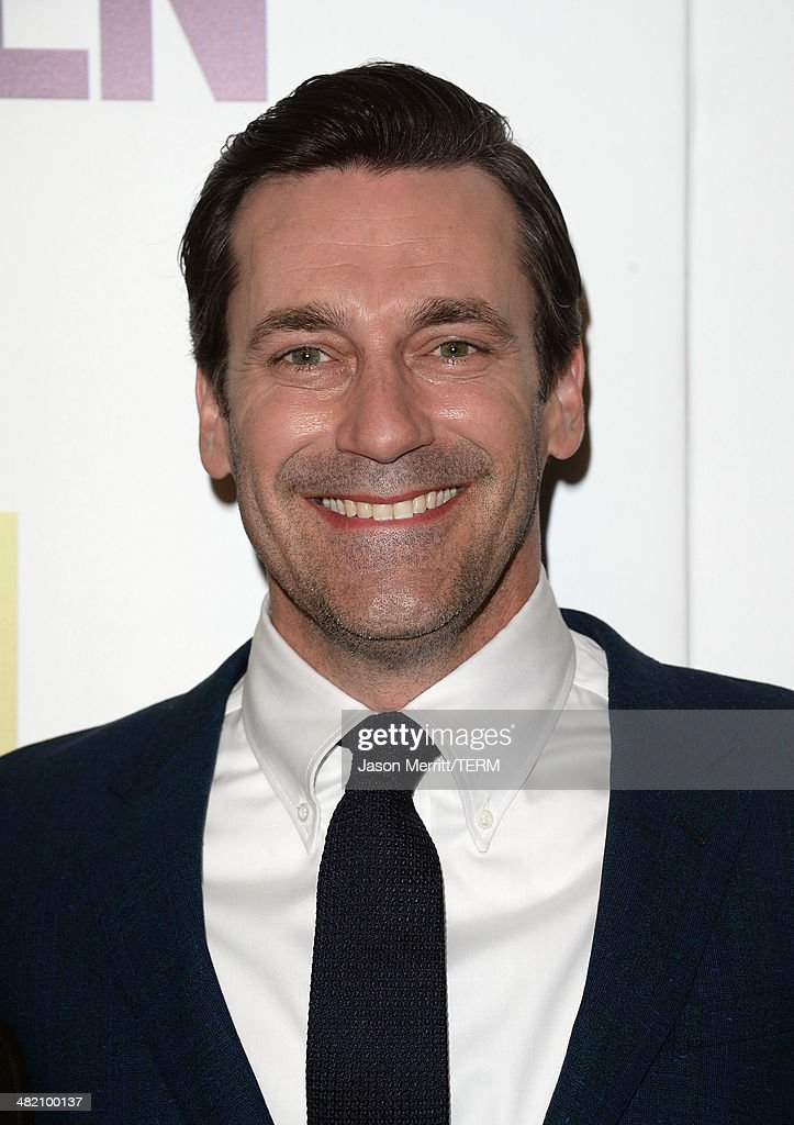 Actor <a gi-track='captionPersonalityLinkClicked' href=/galleries/search?phrase=Jon+Hamm&family=editorial&specificpeople=3027367 ng-click='$event.stopPropagation()'>Jon Hamm</a> attends the AMC celebration of the 'Mad Men' season 7 premiere at ArcLight Cinemas on April 2, 2014 in Hollywood, California.