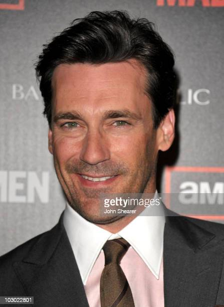 Actor Jon Hamm attends the AMC 'Mad Men' Season 4 Premiere at Mann Chinese 6 Theatres on July 20 2010 in Los Angeles California