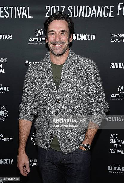 Actor Jon Hamm attends the Cinema Cafe 2017 Sundance Film Festival at Filmmaker Lodge on January 21 2017 in Park City Utah