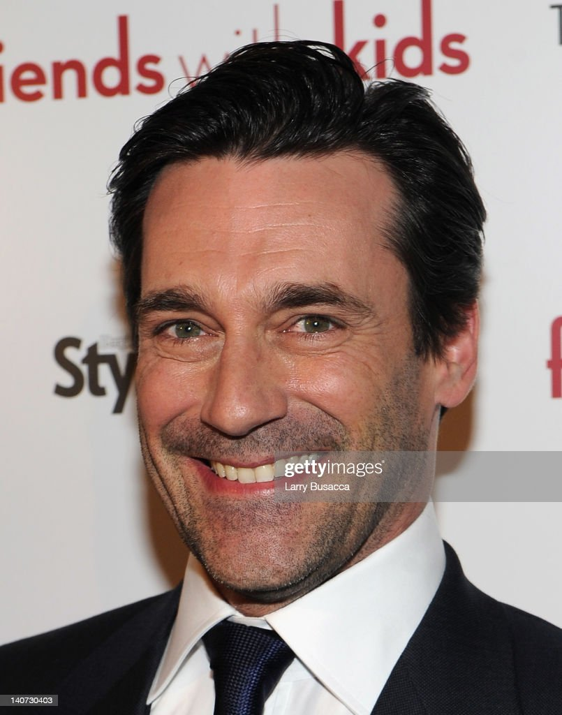 Actor Jon Hamm attends the Cinema Society & People StyleWatch with Grey Goose screening of 'Friends With Kids' at the SVA Theater on March 5, 2012 in New York City.