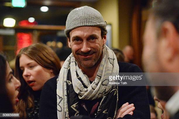 Actor Jon Hamm attends the HBO Documentary Films Sundance Party 2016 on January 24 2016 in Park City Utah
