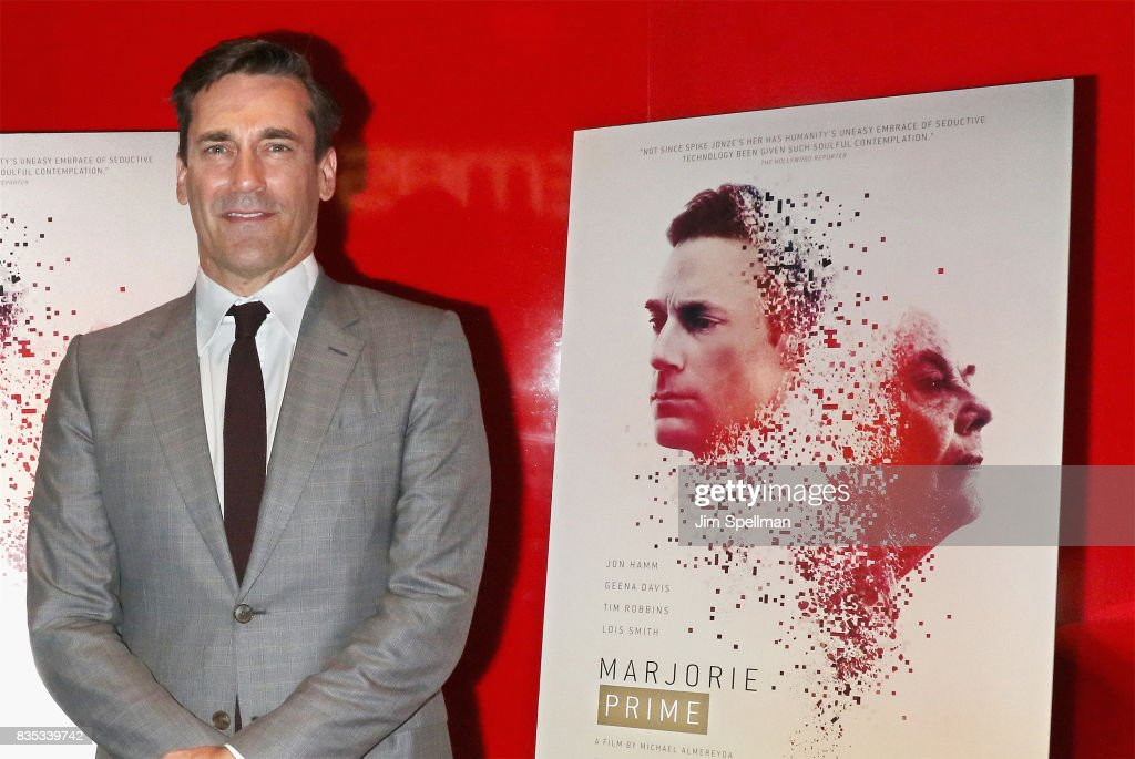 Actor Jon Hamm attends the 'Marjorie Prime' New York premiere at Quad Cinema on August 18, 2017 in New York City.