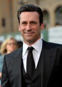 Actor Jon Hamm attends the premiere of Disney's 'Million Dollar Arm' at the El Capitan Theatre on May 6 2014 in Hollywood California