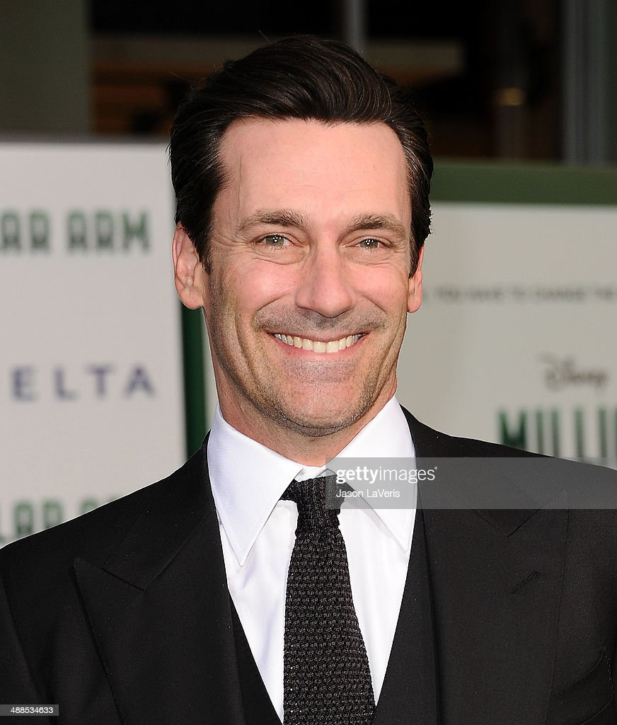 Actor Jon Hamm attends the premiere of 'Million Dollar Arm' at the El Capitan Theatre on May 6, 2014 in Hollywood, California.