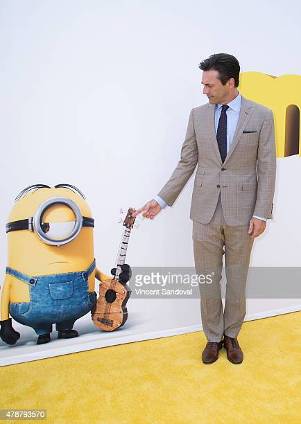 Actor Jon Hamm attends the premiere of Universal Pictures and Illumination Entertainment's 'Minions' at The Shrine Auditorium on June 27 2015 in Los...