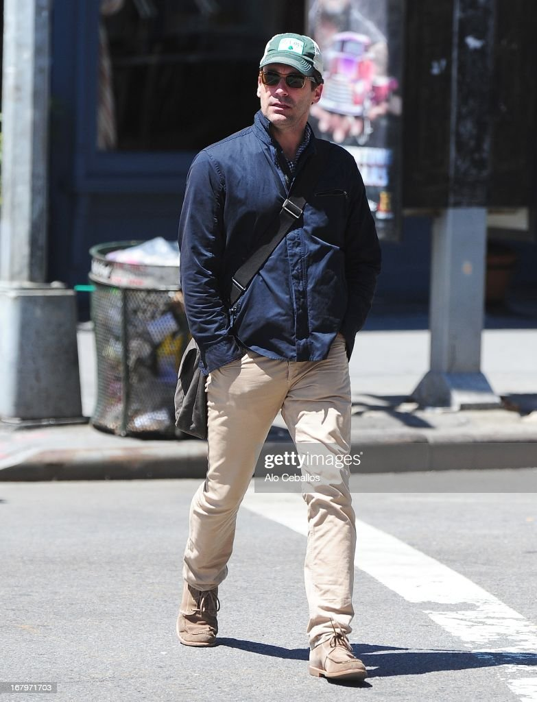 Actor Jon Hamm is seen in Soho on May 3, 2013 in New York City.