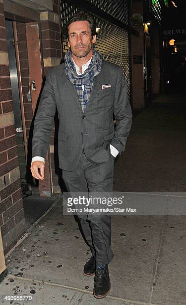Actor Jon Hamm is seen on October 17 2015 in New York City
