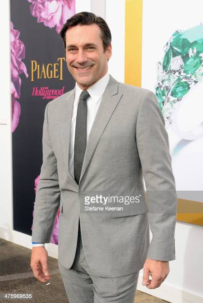 Actor Jon Hamm poses in the Piaget Lounge during the 2014 Film Independent Spirit Awards at Santa Monica Beach on March 1 2014 in Santa Monica...