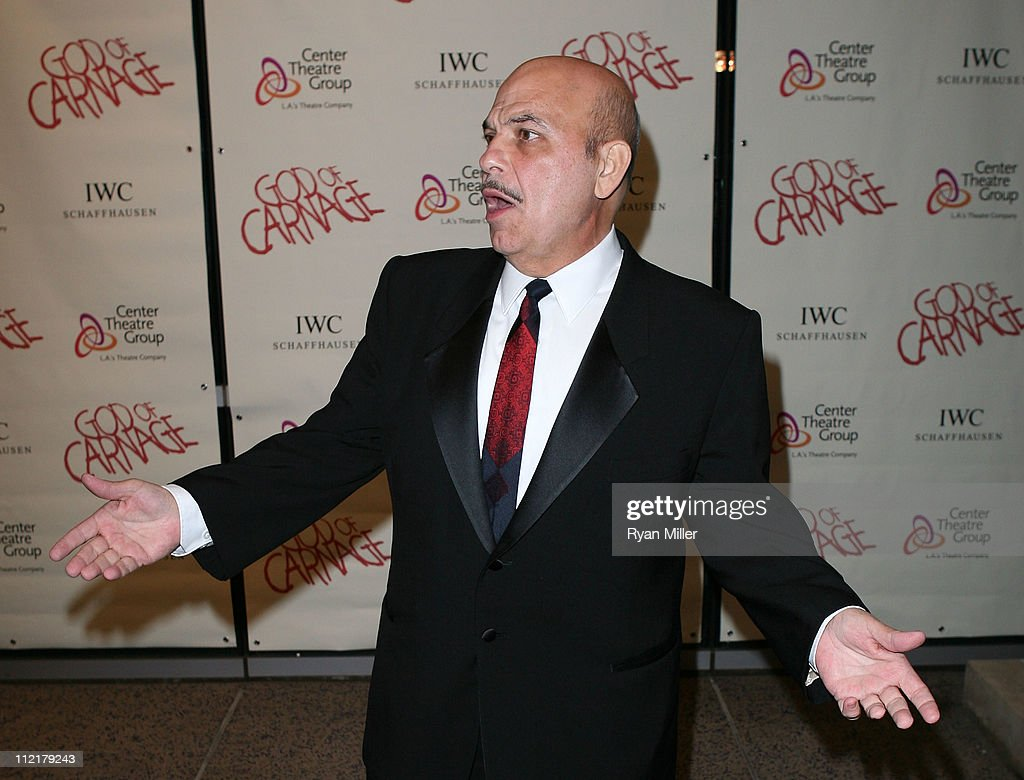 Actor Jon Polito poses during the arrivals for the opening night performance of 'God of Carnage' at Center Theatre Group's Ahmanson Theatre on April 13, 2011 in Los Angeles, California.