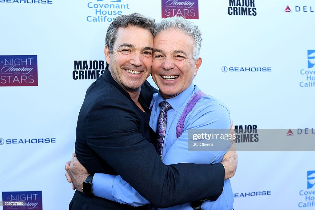 Actor Jon Tenney (L) and Tony Denison attend Covenant House Of California's Annual Fundraising Gala, A Night Honoring Our Stars at The Globe Theatre at Universal Studios on April 30, 2016 in Universal City, California.