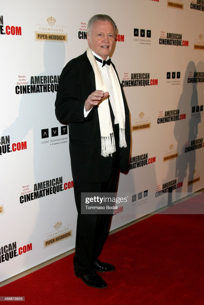 Actor <a gi-track='captionPersonalityLinkClicked' href=/galleries/search?phrase=Jon+Voight&family=editorial&specificpeople=202872 ng-click='$event.stopPropagation()'>Jon Voight</a> arrives at the 27th American Cinematheque Award honoring Jerry Bruckheimer at The Beverly Hilton Hotel on December 12, 2013 in Beverly Hills, California.