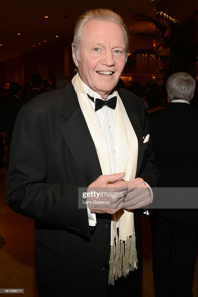 Actor <a gi-track='captionPersonalityLinkClicked' href=/galleries/search?phrase=Jon+Voight&family=editorial&specificpeople=202872 ng-click='$event.stopPropagation()'>Jon Voight</a> arrives at the 55th Annual GRAMMY Awards Pre-GRAMMY Gala and Salute to Industry Icons honoring L.A. Reid held at The Beverly Hilton on February 9, 2013 in Los Angeles, California.