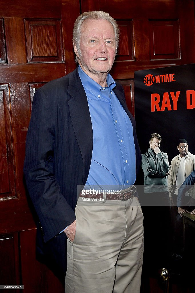 Actor <a gi-track='captionPersonalityLinkClicked' href=/galleries/search?phrase=Jon+Voight&family=editorial&specificpeople=202872 ng-click='$event.stopPropagation()'>Jon Voight</a> attends a viewing party for Showtime's 'Ray Donovan' at O'Brien's Irish Pub on June 26, 2016 in Santa Monica, California.