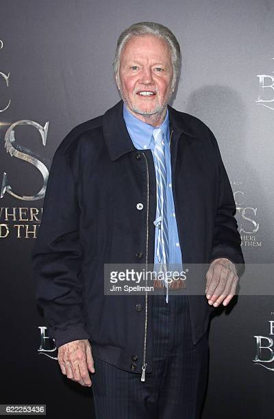 Actor Jon Voight attends the 'Fantastic Beasts And Where To Find Them' world premiere at Alice Tully Hall Lincoln Center on November 10 2016 in New...