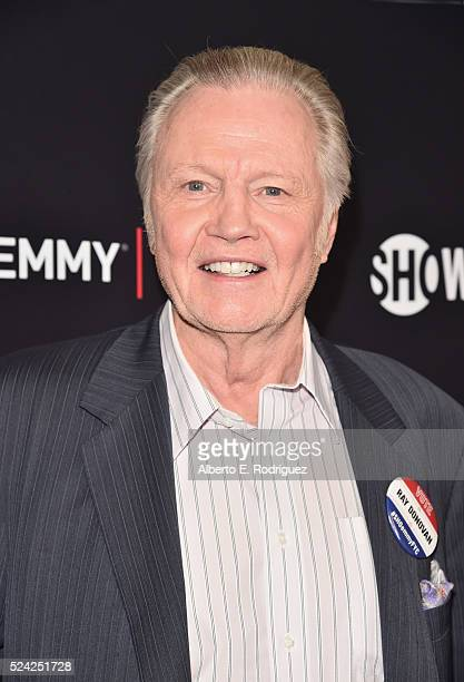 Actor Jon Voight attends the For Your Consideration screening and panel for Showtime's 'Ray Donovan' at Paramount Theatre on April 25 2016 in...