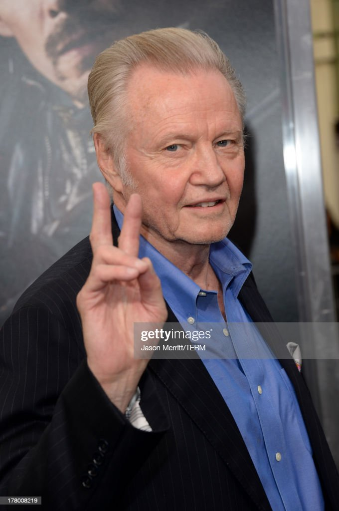 Actor <a gi-track='captionPersonalityLinkClicked' href=/galleries/search?phrase=Jon+Voight&family=editorial&specificpeople=202872 ng-click='$event.stopPropagation()'>Jon Voight</a> attends the premiere of 'Getaway' presented by Warner Bros. Pictures at Regency Village Theatre on August 26, 2013 in Westwood, California.