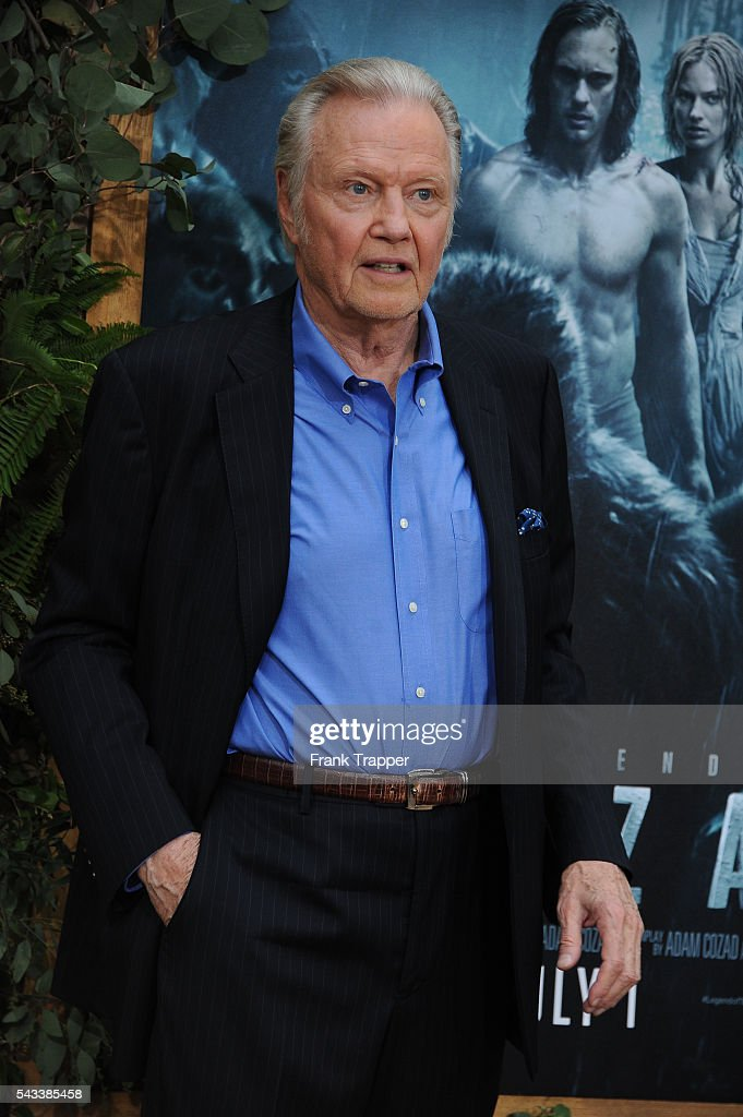 Actor Jon Voight attends the premiere of Warner Bros. Pictures' 'The Legend Of Tarzan' held at the DolbyTheater on June 27, 2016 in Hollywood, California.