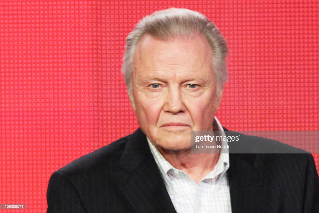 Actor <a gi-track='captionPersonalityLinkClicked' href=/galleries/search?phrase=Jon+Voight&family=editorial&specificpeople=202872 ng-click='$event.stopPropagation()'>Jon Voight</a> of the TV show 'Ray Donovan' attends the 2013 TCA Winter Press Tour CW/CBS panel held at The Langham Huntington Hotel and Spa on January 12, 2013 in Pasadena, California.