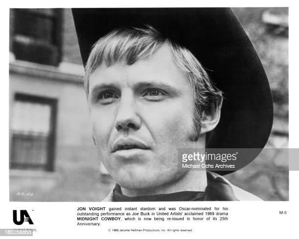 Actor Jon Voight on the set of United Artists movie ' Midnight Cowboy' in 1969