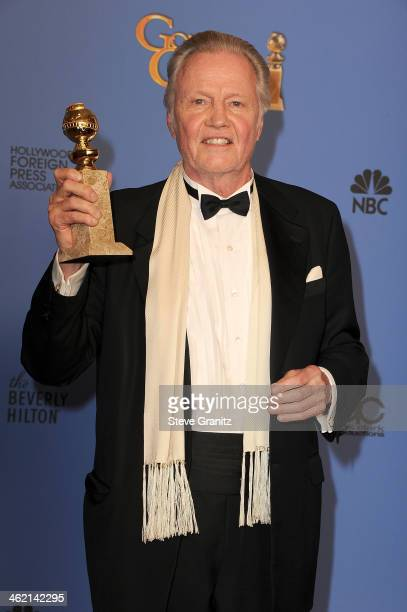 Actor Jon Voight poses in the press room during the 71st Annual Golden Globe Awards held at The Beverly Hilton Hotel on January 12 2014 in Beverly...