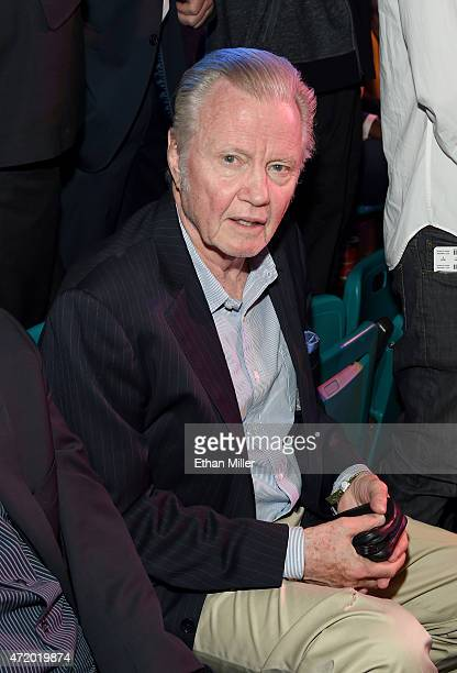 Actor Jon Voight poses ringside at 'Mayweather VS Pacquiao' presented by SHOWTIME PPV And HBO PPV at MGM Grand Garden Arena on May 2 2015 in Las...