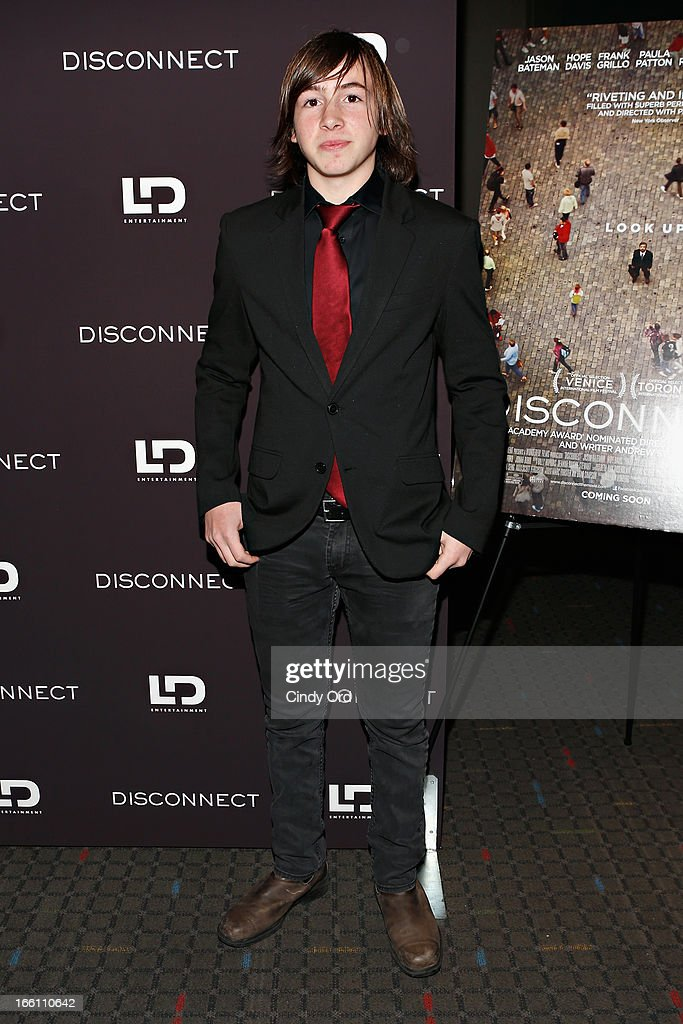 Actor Jonah Bobo attends the 'Disconnect' New York Special Screening at SVA Theater on April 8 2013 in New York City