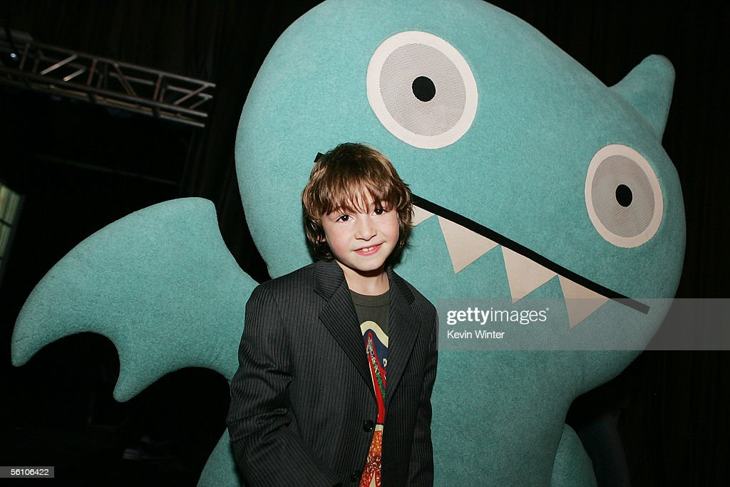 Actor Jonah Bobo poses at the afterparty for the premiere of Columbia Picture's 'Zathura A Space Adventure' at Barker Hanger November 6 2005 in Santa...