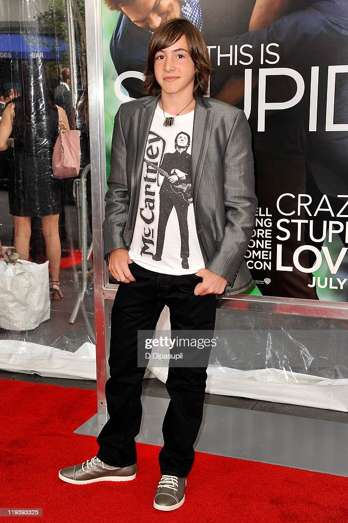 Actor Jonah Bobo poses on the red carpet at the 'Crazy Stupid Love' World Premiere at the Ziegfeld Theater on July 19 2011 in New York City