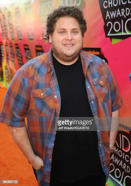 Actor Jonah Hill arrives at Nickelodeon's 23rd Annual Kids' Choice Awards held at UCLA's Pauley Pavilion on March 27 2010 in Los Angeles California