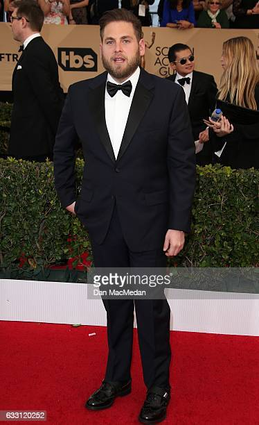 Actor Jonah Hill arrives at the 23rd Annual Screen Actors Guild Awards at The Shrine Expo Hall on January 29 2017 in Los Angeles California