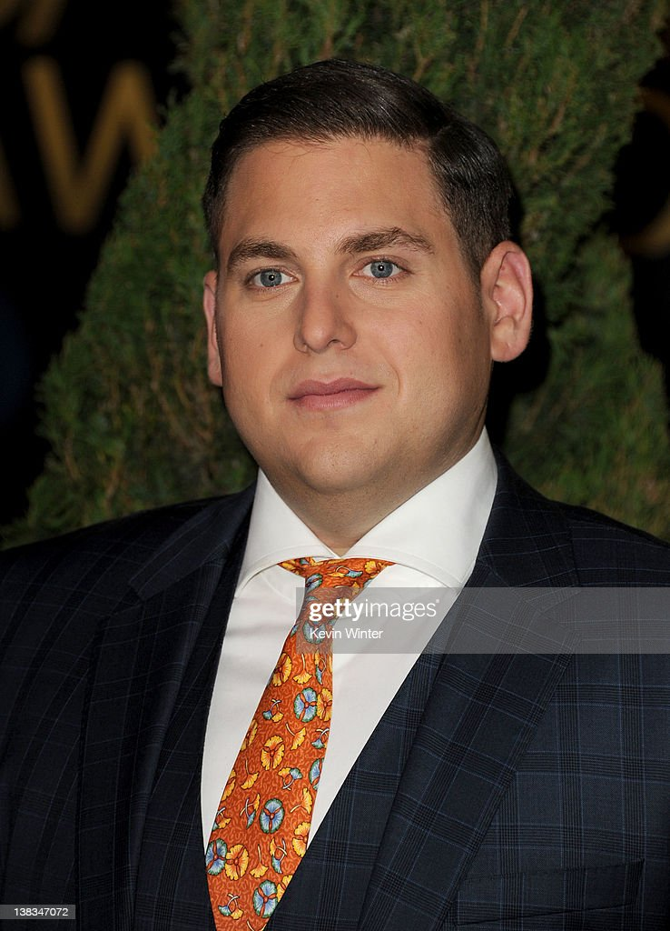 Actor Jonah Hill arrives at the 84th Academy Awards Nominations Luncheon at The Beverly Hilton hotel on February 6 2012 in Beverly Hills California