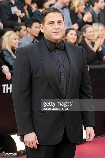 Actor Jonah Hill arrives at the 84th Annual Academy Awards held at the Hollywood Highland Center on February 26 2012 in Hollywood California