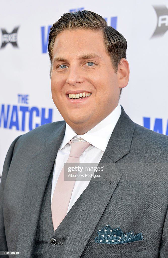Actor Jonah Hill arrives at the premiere of Twentieth Century Fox's 'The Watch' at Grauman's Chinese Theatre on July 23, 2012 in Hollywood, California.