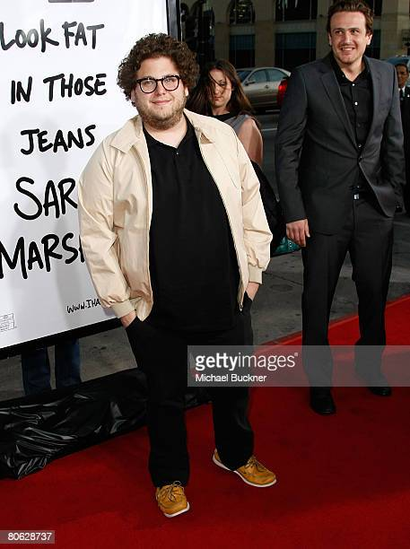 Actor Jonah Hill arrives at the premiere of Universal's 'Forgetting Sarah Marshall' at Grauman's Chinese Theatre on April 10 2008 in Hollywood...