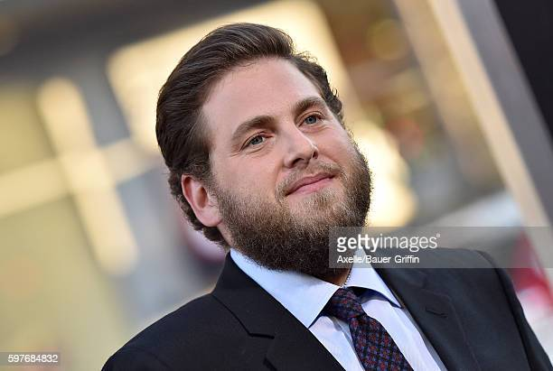 Actor Jonah Hill arrives at the premiere of Warner Bros Pictures' 'War Dogs' at TCL Chinese Theatre on August 15 2016 in Hollywood California