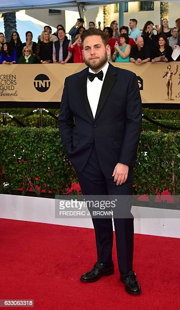 Actor Jonah Hill arrives for the 23rd Annual Screen Actors Guild Awards at the Shrine Exposition Center on January 29 in Los Angeles California / AFP...