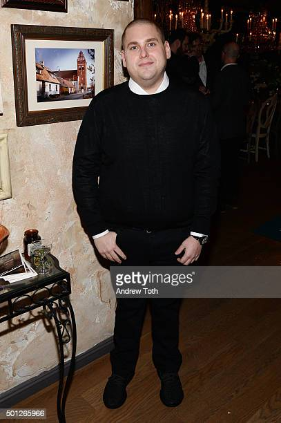 Actor Jonah Hill attends a celebration for Bryan Cranston at House of Elyx on December 13 2015 in New York City