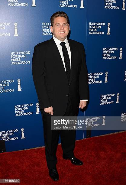 Actor Jonah Hill attends Hollywood Foreign Press Association's 2013 Installation Luncheon at The Beverly Hilton Hotel on August 13 2013 in Beverly...