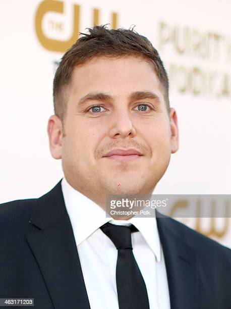 Actor Jonah Hill attends the 19th Annual Critics' Choice Movie Awards at Barker Hangar on January 16 2014 in Santa Monica California