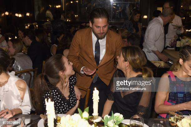 Actor Jonah Hill attends the CHANEL Tribeca Film Festival Artists Dinner at Balthazar on April 24 2017 in New York City