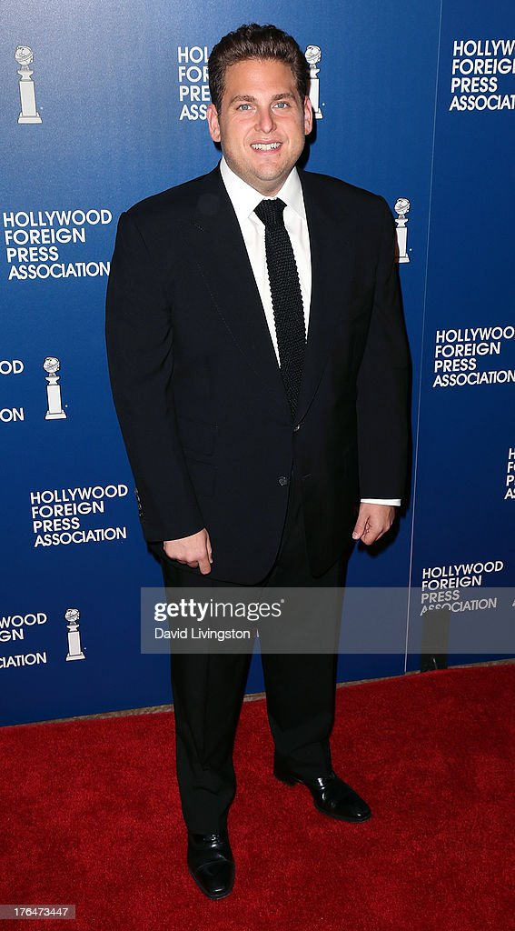 Actor <a gi-track='captionPersonalityLinkClicked' href=/galleries/search?phrase=Jonah+Hill&family=editorial&specificpeople=544481 ng-click='$event.stopPropagation()'>Jonah Hill</a> attends the Hollywood Foreign Press Association's 2013 Installation Luncheon at The Beverly Hilton Hotel on August 13, 2013 in Beverly Hills, California.
