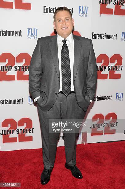 Actor Jonah Hill attends the New York screening of '22 Jump Street' hosted by FIJI Water at AMC Lincoln Square Theater on June 4 2014 in New York City