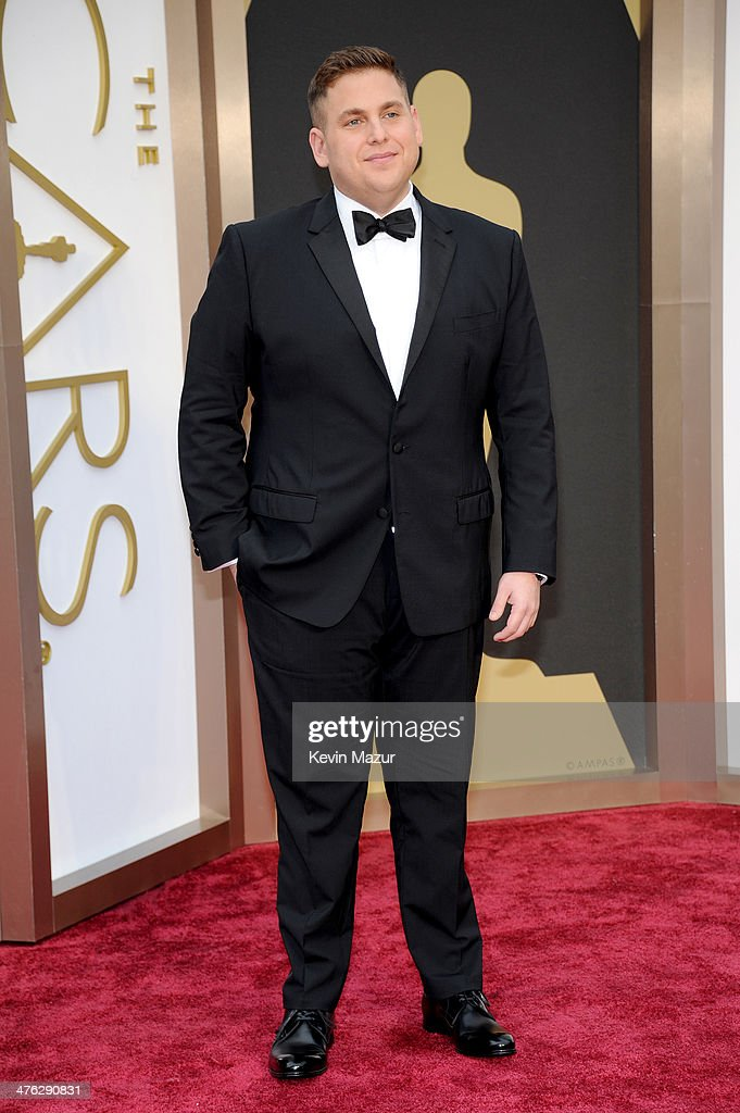 Actor <a gi-track='captionPersonalityLinkClicked' href=/galleries/search?phrase=Jonah+Hill&family=editorial&specificpeople=544481 ng-click='$event.stopPropagation()'>Jonah Hill</a> attends the Oscars held at Hollywood & Highland Center on March 2, 2014 in Hollywood, California.