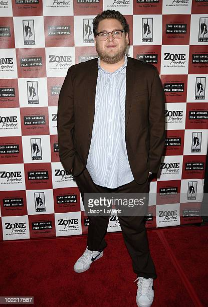 Actor Jonah Hill attends the premiere of 'Cyrus' at Regal 14 at LA Live Downtown on June 18 2010 in Los Angeles California