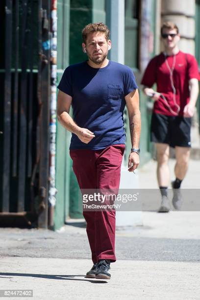 Actor Jonah Hill is seen NoHo on July 30 2017 in New York City